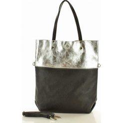 Torebka skórzana Brigida MAZZINI czarna / silver. Czarne torebki worki MAZZINI, ze skóry, duże. Za 279,00 zł.