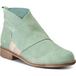 Botki MACIEJKA - 03583-09/00-0 Seledynowy. Zielone buty zimowe damskie marki Maciejka, ze skóry, na obcasie. W wyprzedaży za 199,00 zł.