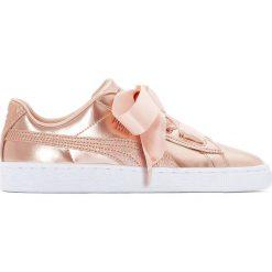 Trampki Jr Basket Heart Lunarlux. Czerwone buty sportowe dziewczęce marki Puma, z materiału, na sznurówki. Za 356,96 zł.