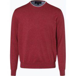 Andrew James - Sweter męski, różowy. Czerwone swetry klasyczne męskie Andrew James, m, prążkowane, z kontrastowym kołnierzykiem. Za 149,95 zł.