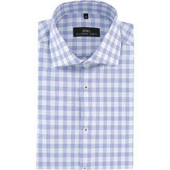Koszula RICCARDO 15-07-15. Białe koszule męskie na spinki marki Giacomo Conti, m, w kratkę, z bawełny, z włoskim kołnierzykiem, z długim rękawem. Za 229,00 zł.