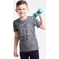 Bluzki dziewczęce: Koszulka sportowa dla małych chłopców JTSM307z – szary melanż