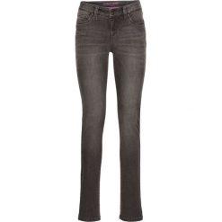 Dżinsy SKINNY bonprix szary denim. Szare jeansy damskie bonprix, z denimu. Za 44,99 zł.