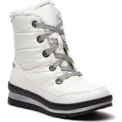Śniegowce CAPRICE - 9-26221-21 White Comb 197. Białe buty zimowe damskie Caprice, z materiału. W wyprzedaży za 219,00 zł.