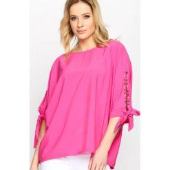 Fuksjowa Bluzka Cloudy Bay. Różowe bluzki na imprezę marki Born2be, m. Za 59,99 zł.