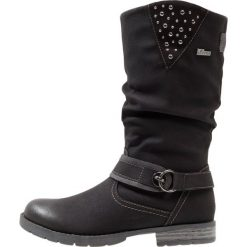 S.Oliver RED LABEL Kozaki black. Czarne buty zimowe damskie marki s.Oliver RED LABEL, z materiału, na wysokim obcasie. W wyprzedaży za 194,35 zł.