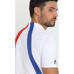 Le coq sportif TENNIS  Koszulka polo white/cobalt/pur rouge. Białe koszulki polo le coq sportif, m, z bawełny. Za 369,00 zł.