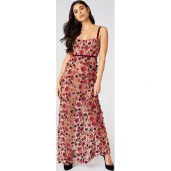 Długie sukienki: For Love & Lemons Sukienka maxi na ramiączkach Beatrice - Beige,Multicolor
