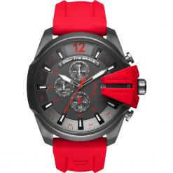 Zegarek DIESEL - Mega Chief DZ4427  Red/Gunmetal. Czerwone zegarki męskie Diesel. Za 1019,00 zł.