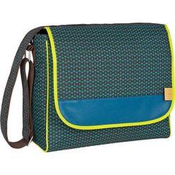 """Torebki klasyczne damskie: Torba """"Messenger Bag"""" w kolorze brązowo-turkusowym – 31 x 37 x 15 cm"""