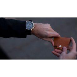 Skórzana bilonówka, portfel na monety SOLIER S CAMEL REESE. Brązowe portfele męskie marki Solier, z materiału. Za 39,00 zł.
