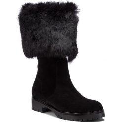 Kozaki EVA MINGE - Abion 4D 18GR1372665EF 601. Czarne buty zimowe damskie Eva Minge, z materiału. W wyprzedaży za 449,00 zł.