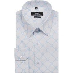 Koszula SIMONE KDBS000121. Białe koszule męskie na spinki Giacomo Conti, na lato, m, z nadrukiem, z bawełny. Za 199,00 zł.