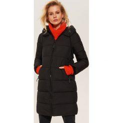 Pikowany płaszcz - Czarny. Czarne płaszcze damskie pastelowe House, l. Za 259,99 zł.