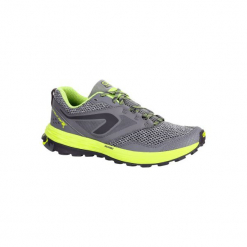 Buty do biegania KIPRUN TRAIL TR damskie. Szare buty do biegania damskie marki KALENJI, z gumy. W wyprzedaży za 149,99 zł.