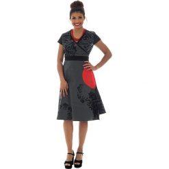Odzież damska: Sukienka w kolorze ciemnoszaro-czerwonym