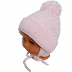 Czapka niemowlęca z szalikiem CZ+S 003C. Szare czapeczki niemowlęce Proman. Za 36,70 zł.