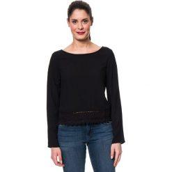 Bluzki asymetryczne: Koszulka w kolorze czarnym