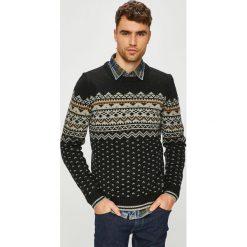 Blend - Sweter. Czarne swetry klasyczne męskie Blend, l, z dzianiny, z okrągłym kołnierzem. Za 169,90 zł.