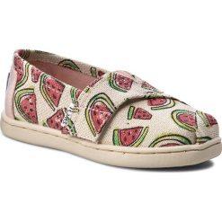 Creepersy damskie: Półbuty TOMS - Classic 10009948 Pink Glitter Watermelons