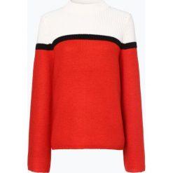Swetry klasyczne damskie: BOSS Casual - Sweter damski z dodatkiem moheru – Issamay, czerwony