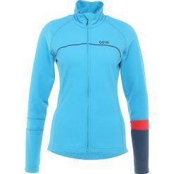 Gore Wear THERMO TRIKOT Bluzka z długim rękawem dynamic cyan/deep water blue. Niebieskie bluzki sportowe damskie Gore Wear, z elastanu, z długim rękawem. Za 509,00 zł.