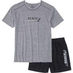 Piżama z krótkimi spodenkami bonprix szary melanż - czarny. Białe piżamy męskie marki B'TWIN, m, z elastanu, z krótkim rękawem. Za 34,99 zł.