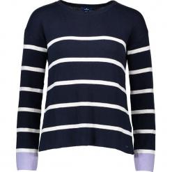 Sweter w kolorze granatowym. Niebieskie swetry klasyczne damskie marki Tom Tailor Adults, s, z bawełny, z okrągłym kołnierzem. W wyprzedaży za 130,95 zł.