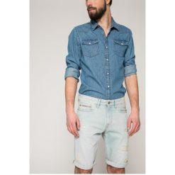 Calvin Klein Jeans - Szorty. Szare spodenki jeansowe męskie marki Calvin Klein Jeans, casualowe. W wyprzedaży za 299,90 zł.