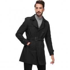 Płaszcz w kolorze czarnym. Czarne płaszcze na zamek męskie AVVA, Dewberry, m, w paski, z tkaniny. Za 489,95 zł.