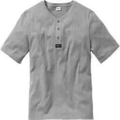 T-shirt Regular Fit bonprix jasnoszary melanż. Szare t-shirty męskie bonprix, l, z aplikacjami. Za 37,99 zł.