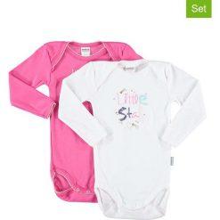 Body niemowlęce: Body (2 szt.) w kolorze białym i różowym