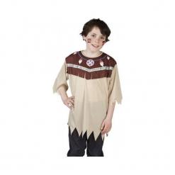 Koszula Indiańska 7 - 9 lat,  kostium dla dzieci. Szare koszule chłopięce marki ASTER. Za 50,50 zł.