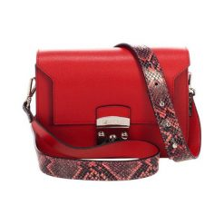 Torebki klasyczne damskie: Skórzana torebka w kolorze czerwonym – (S)26 x (W)15 x (G)8 cm