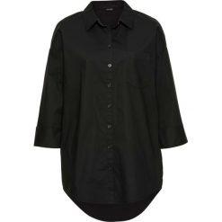 Bluzki damskie: Bluzka koszulowa oversized bonprix czarny