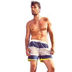 Męskie szorty kąpielowe DAVID 52 Blue Stripes Caicco. Niebieskie kąpielówki męskie marki Astratex, z bawełny. Za 128,00 zł.