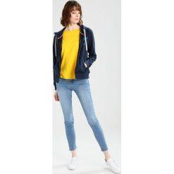 Tommy Jeans BASIC ZIPTHRU  Bluza rozpinana navy blazer. Niebieskie kardigany damskie Tommy Jeans, xs, z bawełny. Za 449,00 zł.