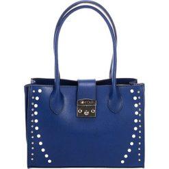 Torebki klasyczne damskie: Skórzana torebka w kolorze niebieskim – (S)31 x (W)42 x (G)13 cm