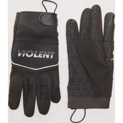 Rękawiczki z napisem - Szary. Szare rękawiczki męskie House, z napisami. Za 49,99 zł.