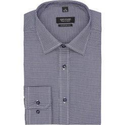 Koszula versone 2729 długi rękaw custom fit granatowy. Niebieskie koszule męskie Recman, m, z długim rękawem. Za 129,00 zł.