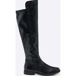 Tamaris - Kozaki. Szare buty zimowe damskie marki Tamaris, z materiału, na sznurówki. W wyprzedaży za 219,90 zł.
