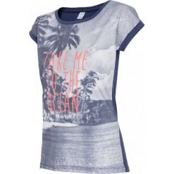 4F Womens T-shirt H4L17-TSD014NAVY. Niebieskie t-shirty damskie marki Adidas, s, z bawełny. W wyprzedaży za 59,99 zł.