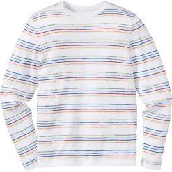 Swetry męskie: Sweter Slim Fit bonprix biały