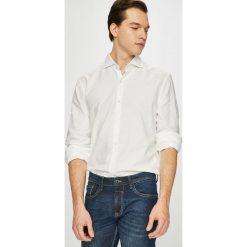 Pierre Cardin - Koszula. Szare koszule męskie na spinki marki Pierre Cardin, z bawełny, z włoskim kołnierzykiem, z długim rękawem. W wyprzedaży za 259,90 zł.