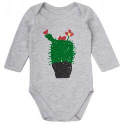 Garnamama Body Dziecięce Z Kaktusem 80 Szare. Szare body niemowlęce Garnamama, z nadrukiem. Za 33,00 zł.