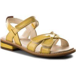 Sandały dziewczęce: Sandały CLARKS – Darcy Charm 261324036 Yellow Patent