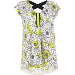 Bluzki asymetryczne: Bluzka w kolorze żółto-białym