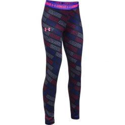Spodnie sportowe damskie: Under Armour Spodnie damskie HG Printed Legging granatowe r. L (1271028-004)