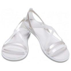 Crocs Damskie Sandały Isabella Strappy Perłowa Biel (36,5). Różowe sandały damskie marki Crocs, z materiału. Za 255,00 zł.
