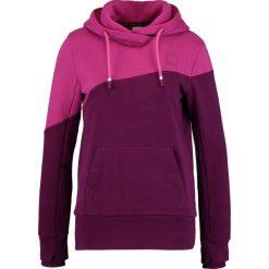 Bluzy damskie: Bench HOODY COLOR BLOCK Bluza z kapturem plum caspia